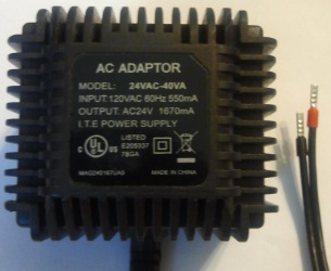 24VAC-40VA AC ADAPTER 24VAC 1670mA Shilded Wire USED POWER SUPPL