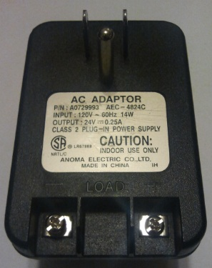 NORTEL A0729993 AC ADAPTER 24VDC 0.25A POWER SUPPLY