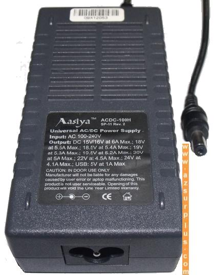 AASIYA ACDC-100H Universal AC ADAPTER 19.5V 5.2A POWER SUPPLY OV