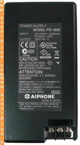 AIPHONE PS-1820 AC ADAPTER 18V 2.0A Video Intercom POWER SUPPLY
