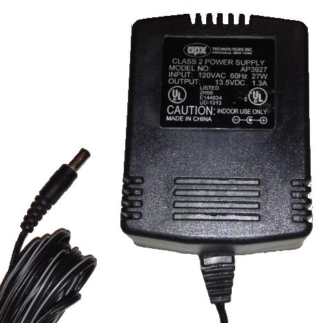 APX TECHNOLOGIES AP3927 AC ADAPTER 13.5VDC 1.3A USED -(+)- 2x5.5