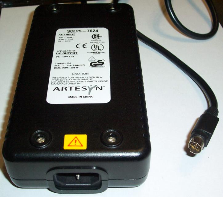 ARTESYN SCL25-7624 AC ADAPTER 24VDC 1A 8Pin POWER SUPPLY