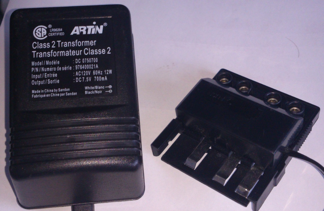 ARTIN DC 0750700 AC ADAPTER 7.5VDC 700mA USED POWER SUPPLY