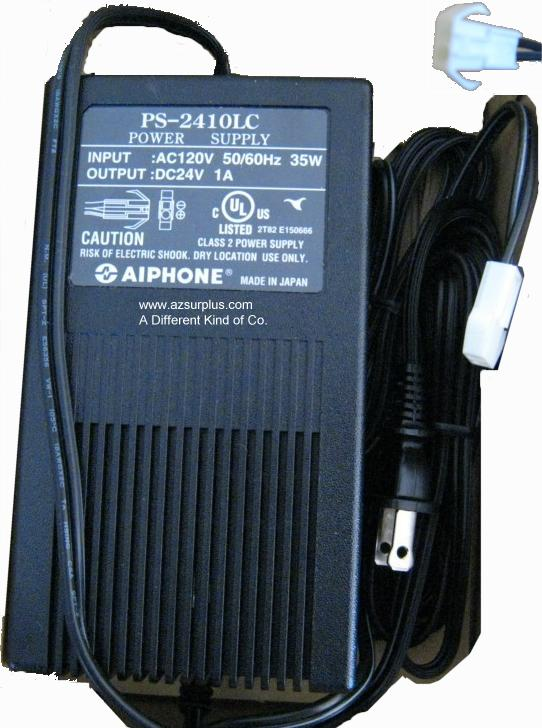 AiPhone PS-2410LC AC Aapter 24VDC 1A 2pin Molex Used 120vac 35W