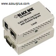 Black Box CAT5 DB9 Line Driver with control signals RJ45 Etherli