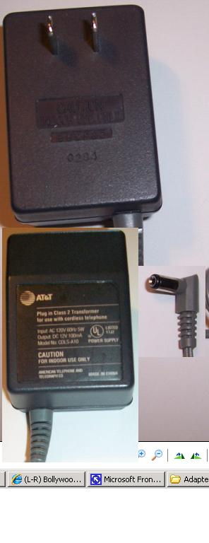 AT&T CDLS-A10 AC ADAPTER 1PLUG IN CLASS2 TROSFORMER FOR CORDLESS