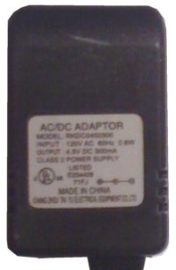 CHANG ZHOU TAI YU RKDC0450300 AC ADAPTER 4.5Vdc 300mA POWER SUPP