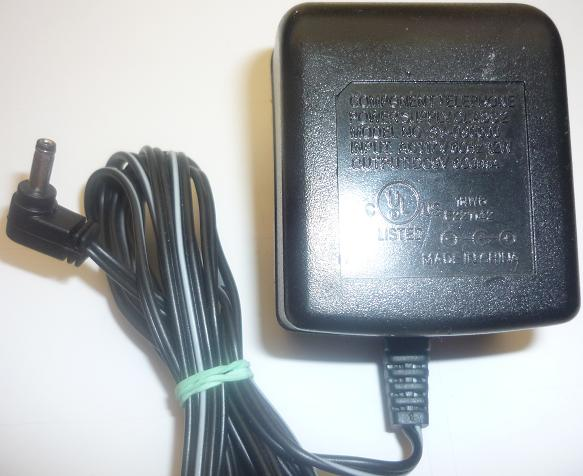 COMPONENT TELEPHONE SY-090600 AC ADAPTER 9VDC 600mA used -(+) 1x