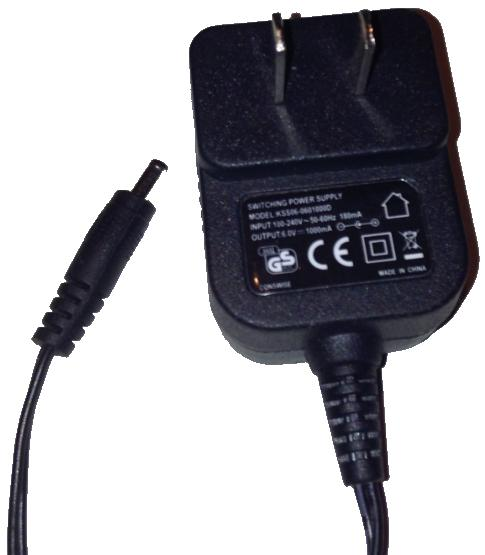 CONSWISE KSS06-0601000D AC ADAPTER 6V DC 1000mA Used
