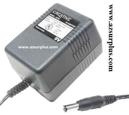 CREATIVE A9700 AC ADAPTER 9VDC 700mA Used -(+)- 2x5.5mm 120VAC