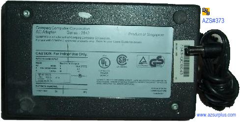 COMPAQ SERIES 2842 AC ADAPTER 18.5VDC 3.1A 91-46676 POWER SUPPLY