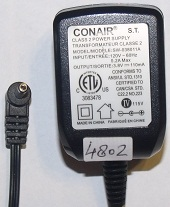 CONAIR SW-038011A AC ADAPTER 3.8V DC 110mA GMT189C POWER SUPPLY
