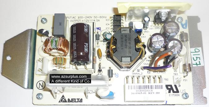 DELTA ADP-54AP USED BARE PCB POWER SUPPLY +12VDC 4.5A OPEN FRAME