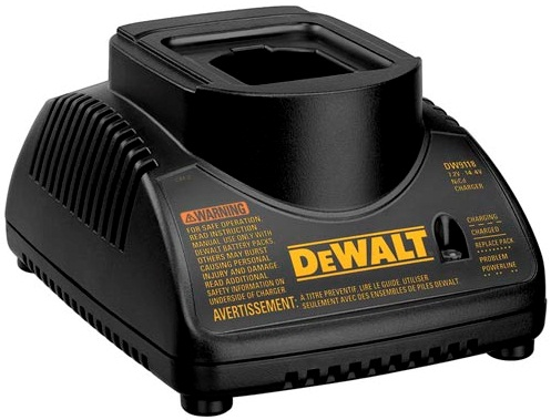 DEWALT DW9118 USED 7.2-14.4V 1.5A NiCD BATTERY CHARGER 120VAC