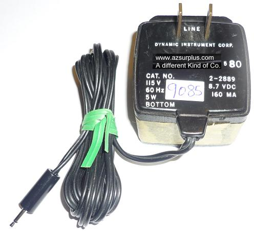 DYNAMIC 2-2889 AC ADAPTER 8.7VDC 160mA USED 2.5mm POWER SUPPLY