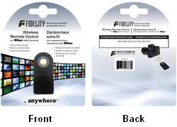 FIDELITY FD-RC-N WIRELESS REMOTE CONTROL NIKON DSLR CAMERAS