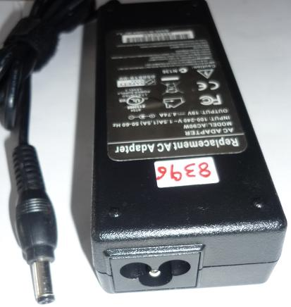 FINECOM REPLACEMENT AC90W AC ADAPTER 19VDC 4.74A USED -(+) 2.5x5