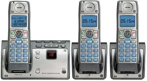 GE TC28223EE2-A Wireless THREE HANDSET DECT 6.0 CORDLESS Home P