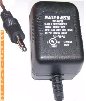 HEALTH-O-METER PELOUZE U090010D12 AC ADAPTER 9V 100mA SWITCHING