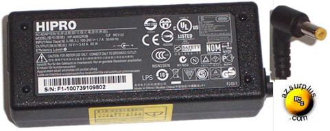 HIPRO HP-A0652R3B AC ADAPTER 19V 3.42A USED 1.5x5.5mm LAPTOP POW