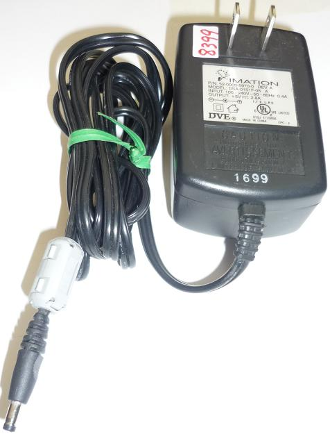 IMATION DSA-0151F-05 AC ADAPTER 5VDC 2.8A USED -(+) 1.7x4mm DVE