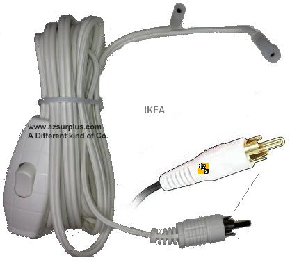 Ikea Power Cable with switch white two connector for KUA1200200L