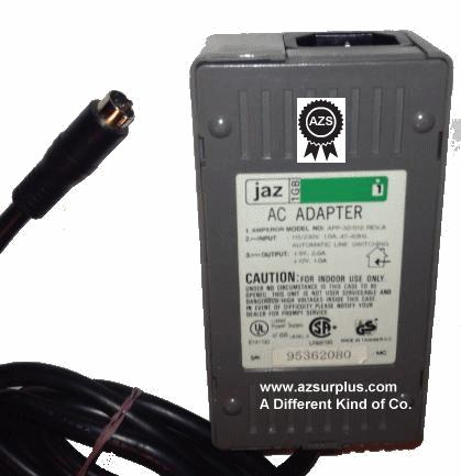 JAZ APP-32/512.REV.A 1GB AC ADAPTER +5V 2A DC +12V 1A 5-PIN DIN