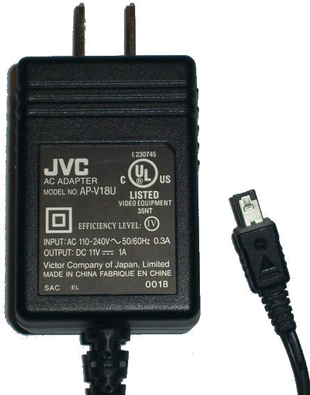 JVC AP-V18U AC DC ADAPTER 11V 1A POWER SUPPLY