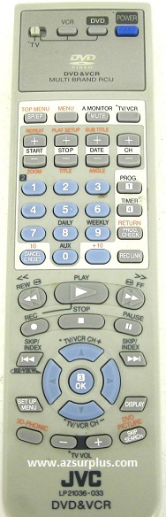 JVC LP 21036-033 infrared AV Programmable Remote Control