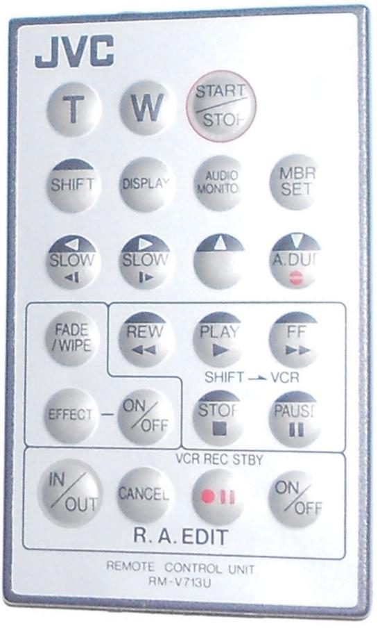 JVC RM-V713U infrared Remote Control 23 Buttons Used