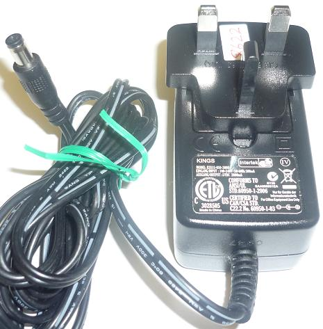 KINGS KSS15-050-3000 AC ADAPTER 5VDC 300mA USED -(+) 2x5.5 UK PL
