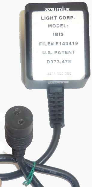 LIGHT CORP IBIS AC ADAPTER USED 2PIN DIN 7mm ROUND CONNECTOR pro