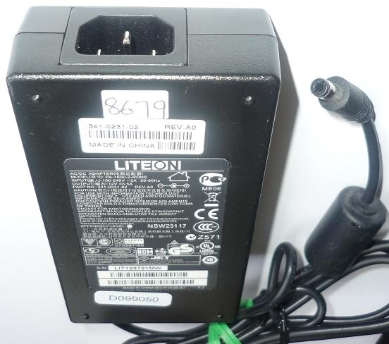 LITEON PA-1600-2-ROHS AC ADAPTER 12VDC 5A USED -(+) 2.5x5.5x9.7m
