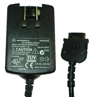 MOTOROLA NPN6197B AC ADAPTER 4.4VDC 1.1A USED USB CONNECTOR ITE