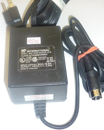 MP INTERNATIONAL T57A-N2220-0/2 AC ADAPTER 18VAC 2.22A used 3PIN