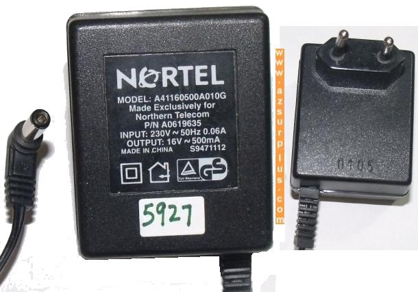 NORTEL A41160500A010G AC ADAPTER 12V 1.25A EUROPE VERSION POWER