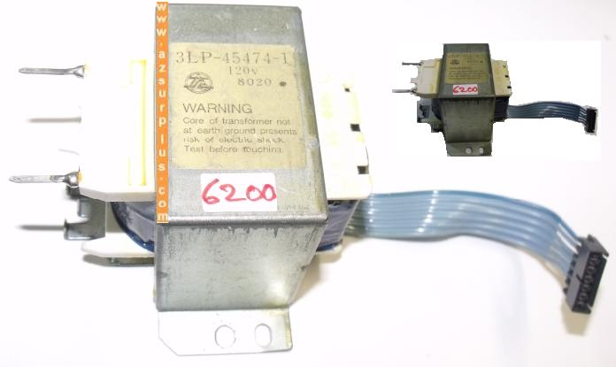 OKIDATA 3LP-45474-1 Used TRANSFORMER input 120VAC output 6Pins F