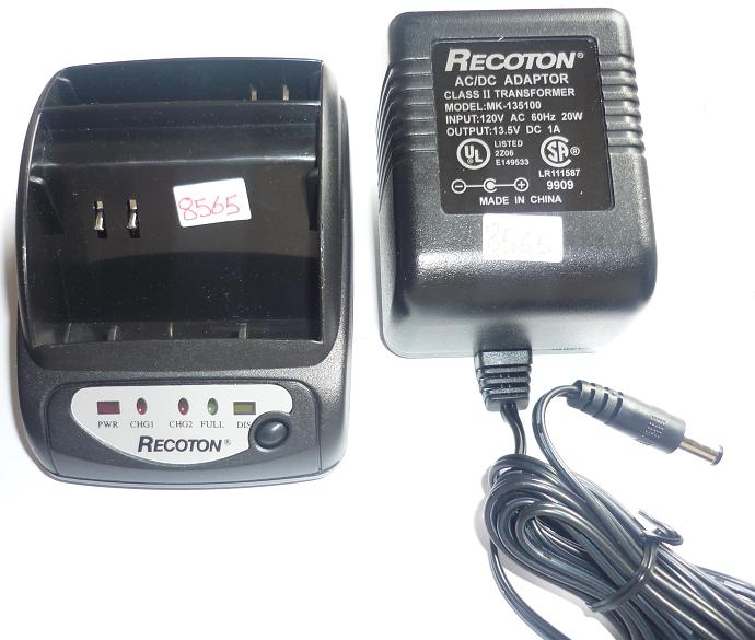 RECOTON MK-135100 AC ADAPTER 13.5VDC 1A BATTERY CHARGER NICD NIM