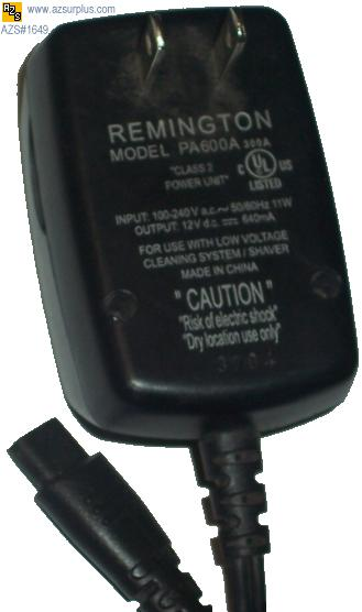REMINGTON PA600A AC DC ADAPTER 12V DC 640mA POWER SUPPLY - Click Image to Close