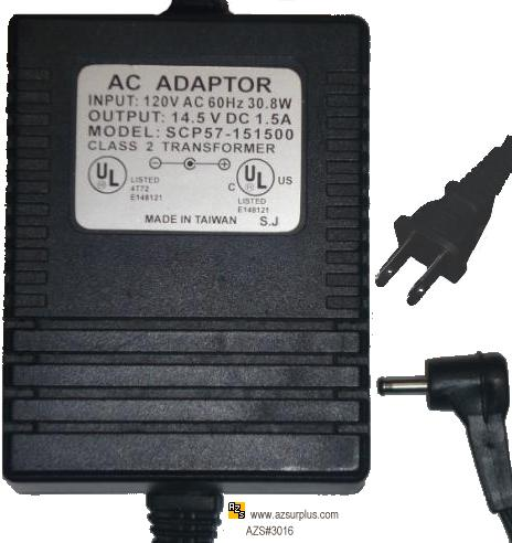 SCP57-151500 AC ADAPTER 14.5V DC 1.5A 30.8W POWER SUPPLY