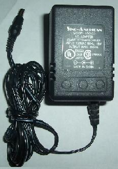 SINO-AMERICAN A30980 AC ADAPTER 9VDC 800mA POWER SUPPLY 15W CLAS