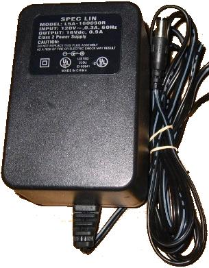 SPEC LIN L5A-160090R AC DC ADAPTER 16V 0.9A POWER SUPPLY