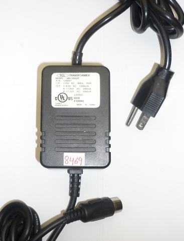 TICL 0851000AF AC ADAPTER 8.5VAC 1000mA USED ~(~) 7PIN DIN 13mm