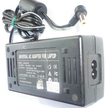 UNIVERSAL SCAC2004 AC ADAPTER 12V 15VDC 4A USED -(+) 2.5x5.5x9.6