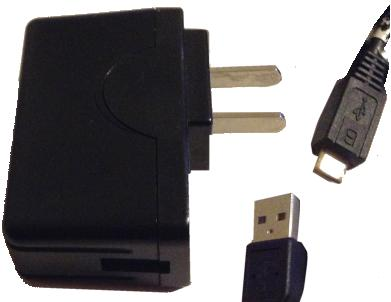 USB ADAPTER WITH MINI-USB CABLE