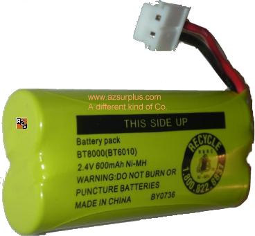 VTECH BT8000 RECHARGEABLE BATTERY 2.4V 600mAH Ni-MH WIRELESS