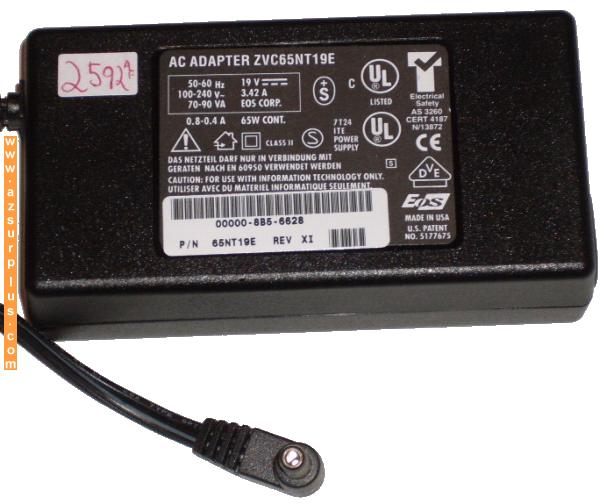 ZVC65NT19E AC ADAPTER 19VDC 3.42A POWER SUPPLY