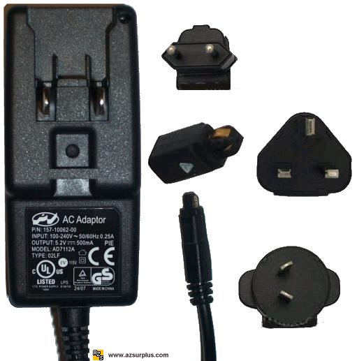 AD7112A AC ADAPTER 5.2V SWITCHING POWER SUPPLY FOR PALM