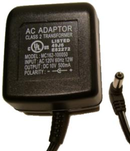 MC162-100050 AC ADAPTER 10V DC 500mA POWER SUPPLY for MP3 iPod S