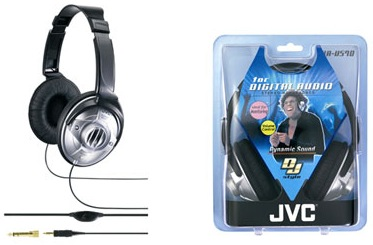 JVC HA-V570 STEREO HEADPHONES J47428-002 40mm diaphragm